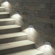 Luxus 4er Set LED Wand Leuchten Garten Grundstück Treppen Lampen IP65 Strahler