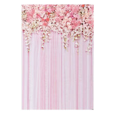 5x7ft Pink Flower Backdrop Photography Background Weeding Background Y0H4