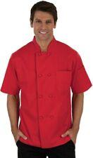 Chef Uniform Short Sleeve Coat Jacket Men Kitchen Work Cook Uniform