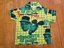 Rare True original Vintage Checkers & Pogo Kgmb Tv Hawaiian Aloha shirt child
