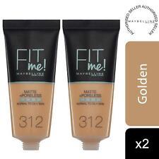 2pk Maybelline Fit Me Matte & Poreless Liquid Foundation, 312 Golden 30ml
