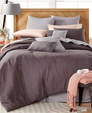 Baltic Linens Washed Linen 14 Piece Charcoal Gray Queen Comforter Set