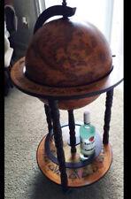 "13"" Diameter Wine Globe Wine Liquor Bar Rack Cabinet Nautical Old Italian Style"