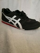 Onitsuka Tiger Ultimate 81 Black Red White Shoes Mens Size 12 Rare HTF Colorway