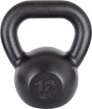 Kawmet Cast Iron Kettlebell 12 kg Black