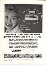 1961 PAPER AD Buddy L Toy Steel Trucks Coca Cola Farm Tractor Camper RV Dump