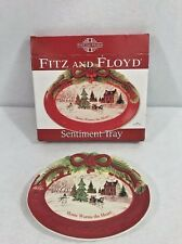 Fitz And Floyd Home Warms The Heart Holiday Sentiment Tray