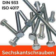 Sechskantschrauben verzinkt DIN 933 ISO 4017 Vollgewinde M4 M5 M6 M8 M10 M12