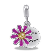Davinci Beads Charm - SISTERS FOREVER FLOWER - Buy 2 or More DaVinci and Save!