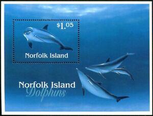 1997 Norfolk Island Dolphins Mini Sheet Mint Never Hinged, Clean & Fresh