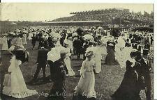 Australia Postcard - Lawn Flemington, Melbourne Cup Day, Victoria - 1907