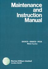 Matchless G85CS G80CS Maintenance Manual Instruction Book Norton P11A motorcycle