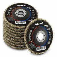 "10 Pack  Aluminum Oxide Flap Disc | 4.5"" x 7/8-Inch, 80 Grit, Flat Type #27"