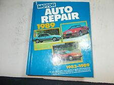 1989 MOTOR'S AUTO REPAIR MANUAL 83 84 85 86 87 88 89 FORD CHRYSLER CADILLAC GM