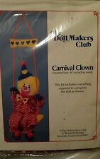 Vintage The Doll Makers Club Carnival Clown Kit Doll Making Crafting Complete