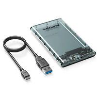 Wavlink USB 3.0  für 2,5 Zoll SATA HDD/SSD Gehäusebo Externes Festplattengehäuse