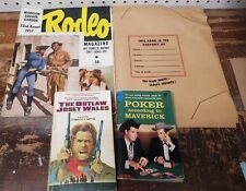 Lot of 1950's Western Books Hopalong Cassidy Bond Bread Book Cover Rodeo Mag