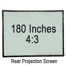 180 Inch 4:3 Wall Mount Portable Home Rear Projection Screen for Projector Beam
