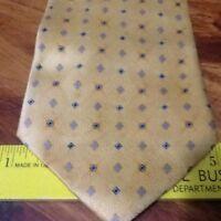 Viareggio Men's Silk Neck Tie 58 x 4 Primary Color Yellow w/ Blue Made in Italy
