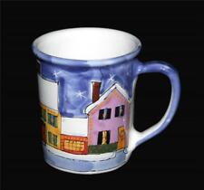 LRG 16 OZ Starbucks Christmas Village Houses Stars Handpainted Hungary Mug NWOT