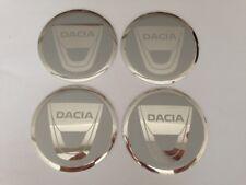 Autocollant Sticker Centre de Roue Cache Moyeu Jante Alu pour DACIA 4 x 60mm