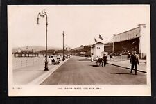 Colwyn Bay - The Promenade - real photographic postcard