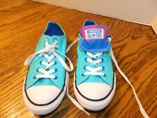 CONVERSE ALL STARS women's Turquoise DOUBLE TONGUE Sneakers SHOES* 5    WORN 1X