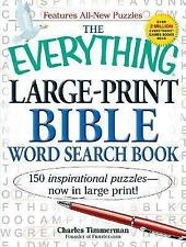 The Everything Large-Print Bible Word Search Book by Charles Timmerman (Paperback, 2011)