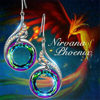 Fashion Gorgeous Silver Earrings Drop Dangle Women Colorful Crystal Jewelry Gift