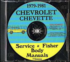 Chevette Shop Manual CD 1979 1980 1981 Chevrolet Repair Service for Gas Diesel