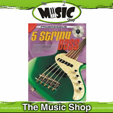 Progressive 5 String Bass Guitar Music Book with CD New - Bass Lesson Book