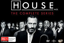 House M.D. Complete Seasons Series 1 2 3 4 5 6 7 & 8 DVD Box Set R4 New 1 - 8