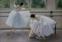Quality Hand Painted Oil Painting Ballerinas 24x36in
