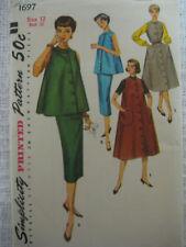 Vintage Simplicity  MATERNITY DRESS Womens Sewing Pattern 1697 Sz 12