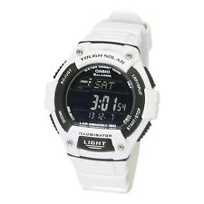 Casio WS220C-7B Tough Solar 120-LAP Memory Stopwatch Sports Watch - Glossy White