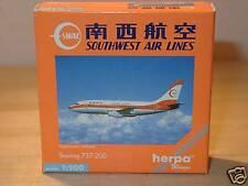 HERPA WINGS b737-200 Southwest Air L. - 512701 - 1:500