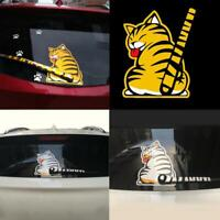 3D Cat Dog Moving Tail Stickers Style Car Windshield Back Window Wiper Stickers