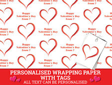 Personalised Valentine's Day Wrapping Paper - Love Hearts