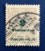 """1923 GERMANY 2 MILLIARDEN STAMP WITH UNIQUE """"METABOLIC DISEASE"""" CANCEL"""