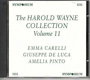 THE HAROLD WAYNE COLLECTION VOLUME 11 - CARELLI - DE LUCA - PINTO - SYMPOSIUM