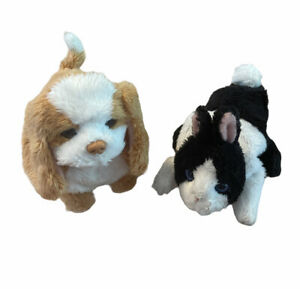 LOT OF 2 FurReal Friends Mini Puppy Dog And Bunny Electronic Moves Hasbro Works
