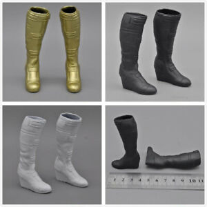 """1//6th Super Long Boots Accessory for 12/"""" Female Action Figure Hot Toys White"""