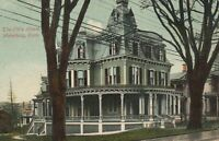 VINTAGE ELK'S HOME, WATERBURY POSTCARD - sent from Watertown USA to Dulacca QLD