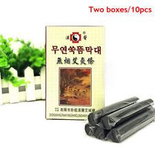 10pcs Black Traditional Smokeless Moxa Stick Roll 14*110mm Moxibustion O