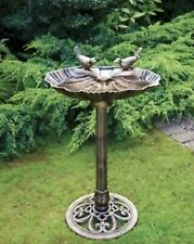 More details for new bronze effect garden bird bath