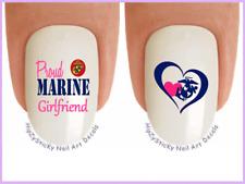 Nail Art #5682 Military Usmc Marine Girlfriend WaterSlide Nail Decals Transfers