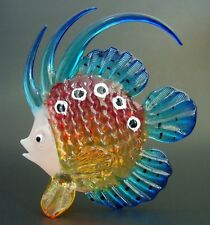 LARGE Glass FISH Painted Aquarium Tropical Fish Curio Display Glass Ornament