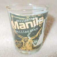 "Vintage Shot Glass from ""MANILLA"" Philippines, unused"