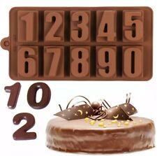 Silicone Silicon Numbers Fondant Chocolate Sugarcraft Mould DIY Clay Resin