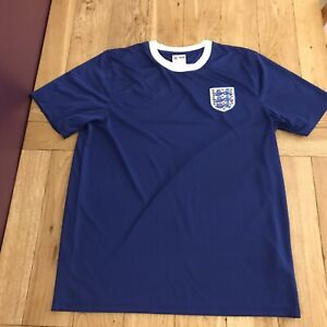 England National Football Shirt - Size Large - Blue Nivea For Men Training Top
